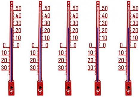 Lantelme 5 Pieza Set Jardín – Termómetro Exterior. Jardín Termómetro analógico de fabricación Alemana, plástico, Color Rojo: Amazon.es: Jardín
