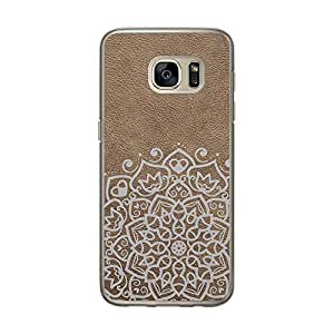 Loud Universe Samsung Galaxy S7 Madala Wood n Marble A Madala 5 Printed Transparent Edge Case - Brown