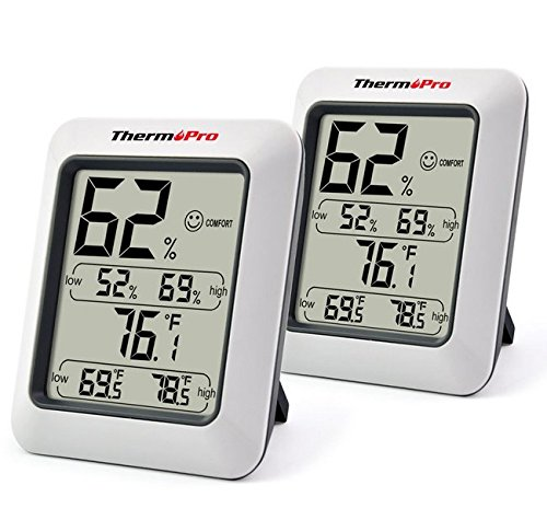 Price comparison product image 2 X Temperature Humidity Meter Thermometer Hygrometer 4 ThermoPro Digital Indoor