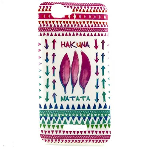 For Wiko Rainbow 5.0 Inch Case, IVY HAKUNA MATATA Feather Graphic,Snap-on TPU&IMD Soft Case Cover Skin For Wiko Rainbow 5.0 Inch