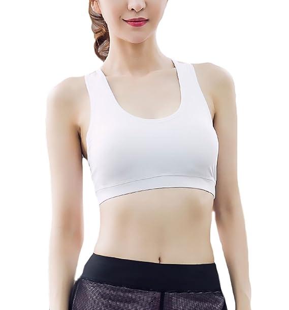 Lannister Fashion Mujer Sujetador Deportivos Push Up Fitness Sin Aros con Almohadillas Extraíbles Ropa Interior A