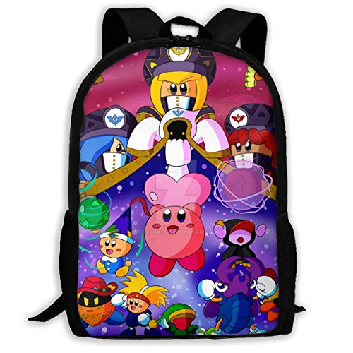 NEWXINGXINGF196 Kirby_Star_Allies Unisex Child's School Bags Bookbag Girls Boys Schoolbag Backpack Zipper Daypack for Office Traval (Bag Laptop Ally)