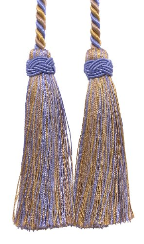 Libby's Pumpkin Double Tassel / Lavender Blue, Taupe / Ta...
