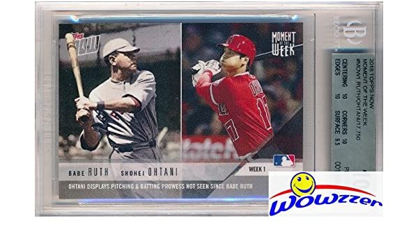 Babe Ruth Shohei Ohtani 2018 Topps First Ever Moment The