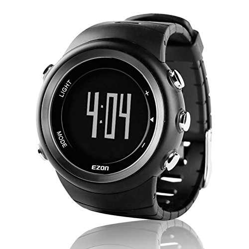 Digital Step Counter - EZON Outdoor Sports Watch with Pedometer Calorie Counter Running Big Number Digital Wristwatch for Men and Women T023