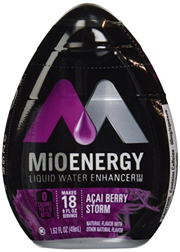 MIO Energy Liquid Enhancer Acai Berry Storm 1.62 Ounce (Pack of 4) by Kraft Foods Mio