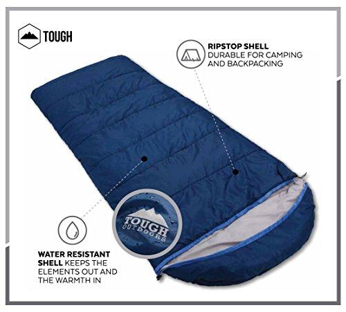 All Season Xl Hætteklædte sovepose med Compression Sack-2083