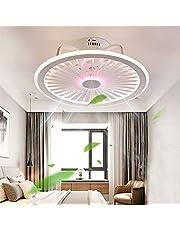 Plafondventilator met verlichting, met app-besturing en afstandsbediening, dimbare windsnelheid, 40 W, moderne led-plafondlamp met ventilator, kroonluchter voor slaapkamer en woonkamer