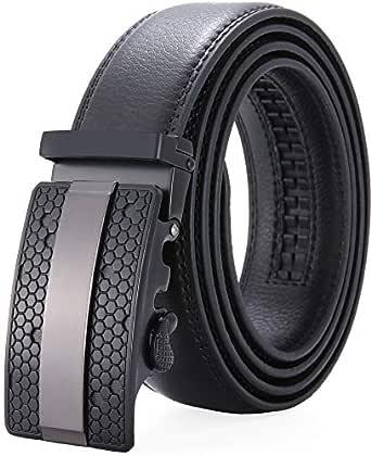 """Men's Belt,Wetoper Slide Ratchet Belt for Men with Genuine Leather 1 3/8,Trim to Fit (Up to 44"""" waist adjustable, BLCAK 2)"""