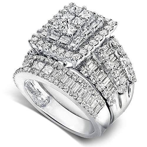 Diamond Cluster Bridal Set - Kobelli Diamond Engagement Ring and Wedding