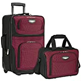 Travel Select Amsterdam Two Piece Carry-On Luggage Set - Burgundy