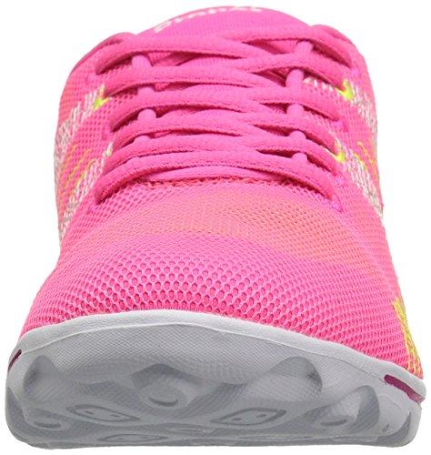 Propet Women's TravelActiv Knit Walking Shoe Pink/Yellow GgvEw