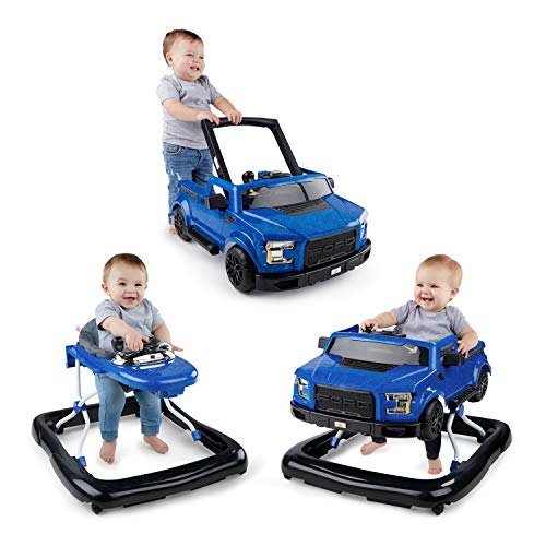 51XlM7IxvaL - Bright Starts 3 Ways to Play Walker - Ford F-150 Raptor, Lightning Blue, Ages 6 months +