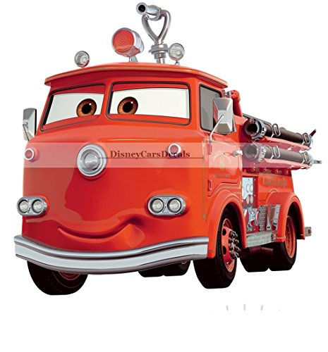 9 Inch Red Fire Truck Disney Pixar Cars 2 Movie Removable Wall Decal Sticker Art Home Racing Decor