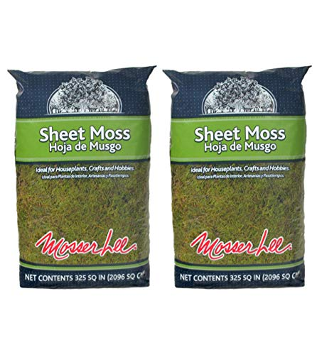 Mosser Lee ML0460 Natural Green Sheet Moss, 325 sq. in. (Twо Pаck) (325 Sq In Sheet Moss Soil Cover)