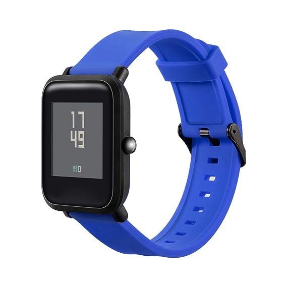 Riou Correa para Reloj,❤️para Xiaomi Amazfit Bip Reloj Juvenil Banda de Correa de muñeca de Silicona Suave Pulseras de Repuesto Calidad Exquisita: ...
