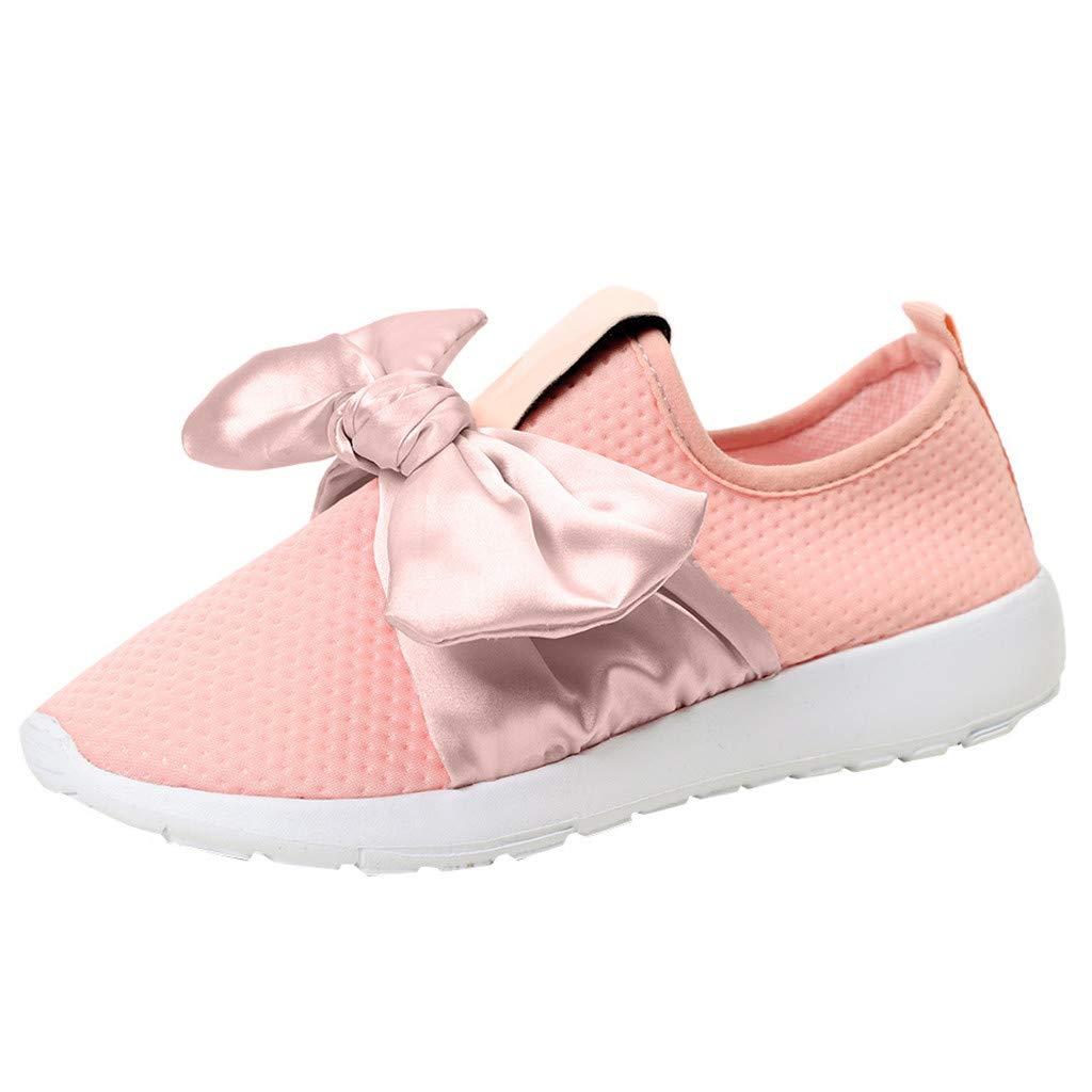 Naladoo Women Bow Mesh Shoes Beach Running Hiking Shoes Sports Walking Sneakers by Naladoo Women Shoes