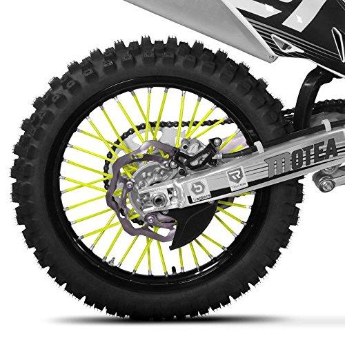 Couvres rayons jaune fluo pour jante avant arri/ère moto motocross enduro trial
