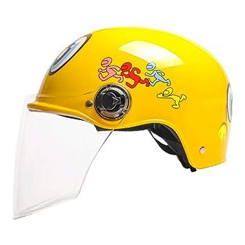 WXL Casco para niños para motocicleta eléctrica Niño Niña Bebé para niños Casco de dibujos animados