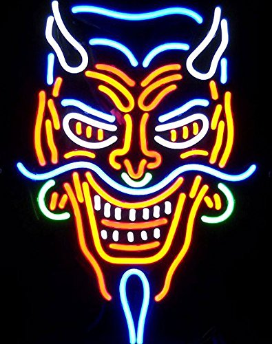 Cozyle Glass Bright Neon Light Tattoo Devil Neon Sign 20