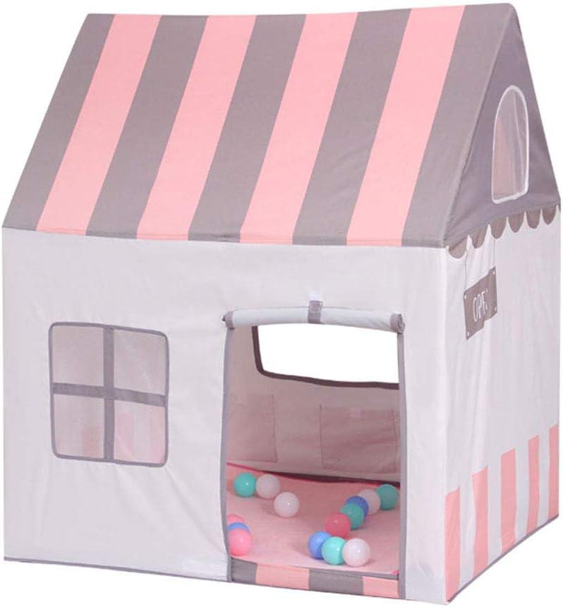 Floving Carpa para niños, Carpa para bebé, Niños Castillo, Azul, Rosa, Regalo de cumpleaños, Interior / Exterior, Sala de Juguetes, Seguridad y no tóxico. (Pink)