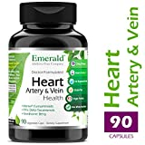 Heart, Artery & Vein Health – with Hawthorn Berry & Meriva Phytosome – High Absorption, Supports Cardiovascular Health, Helps Regulate Blood Pressure – Emerald Laboratories – 90 Vegetable Capsules For Sale