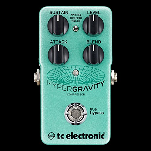 TC Electronic HyperGravity Compressor Pedal w/ 2 Patch Cables by TC Electronic