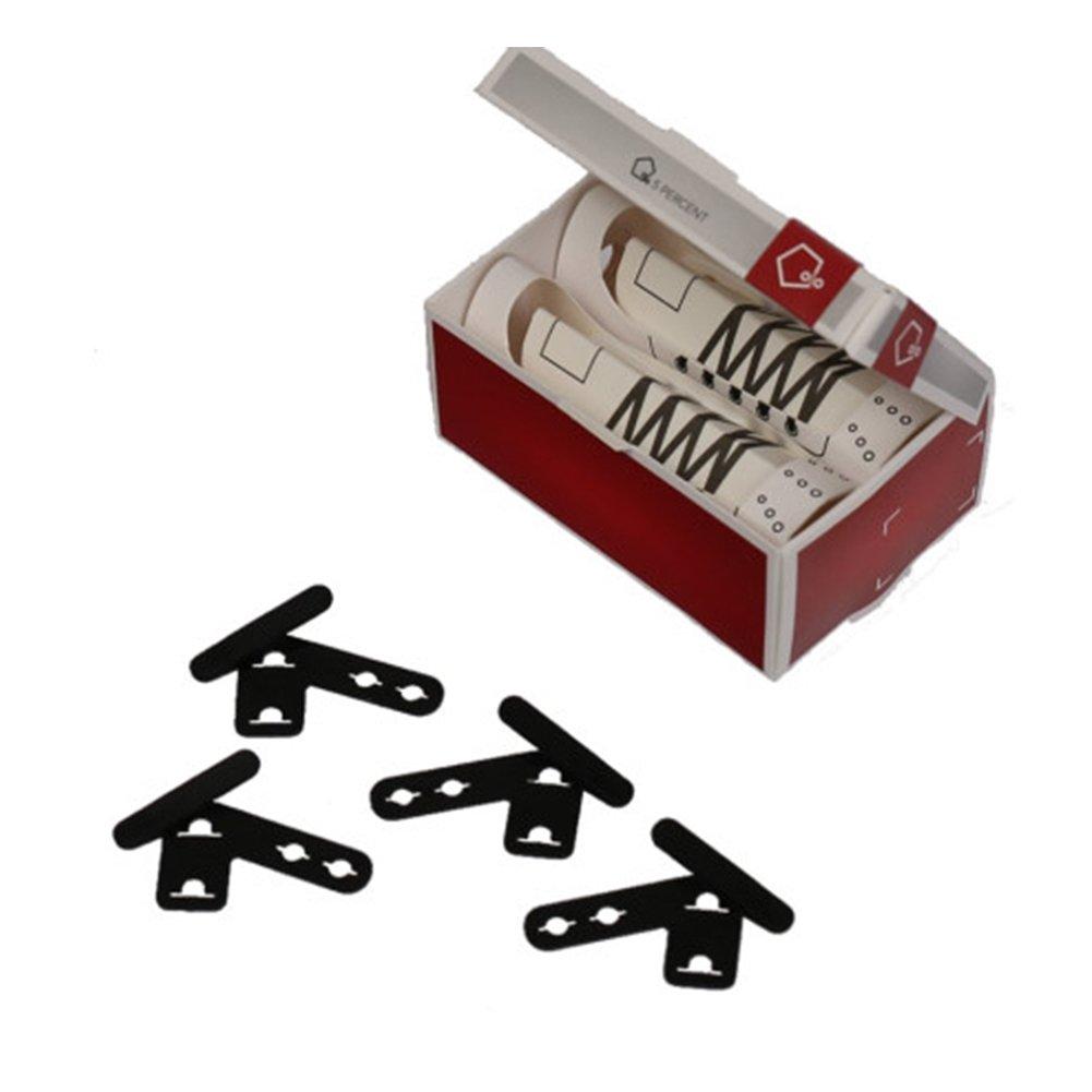 CNC-031 Shoelace Clip/Shoe Clip/Line Clip/Tongue holder/Clean Shoelace, 1set (BLACK) by CrossCrown
