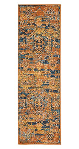 Amazon Com Stone Amp Beam Old World Rug 2 2 Quot X 7 6 Quot Blue