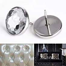 Surepromise 100 x 22MM Crystal Sofa Headboard Upholstery Nails Buttons Tacks
