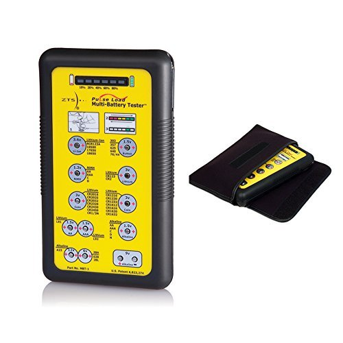 ZTS Multi Battery Tester (MBT-1) Bundle with Soft Carrying & Storage Pouch for the MBT-1 Battery Testers by ZTS