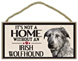 Wood Sign: It's Not A Home Without An IRISH WOLFHOUND (WOLF HOUND) | Dogs, Gifts