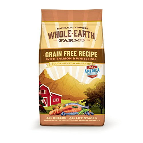Whole Earth Farms Grain Free Recipe Dry Dog Food, Salmon & Whitefish, 4-Pound