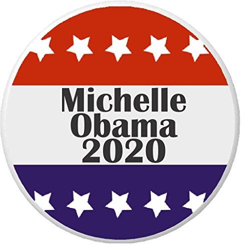 - Michelle Obama 2020 Red White Blue Stars 2.25