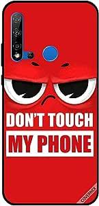 حافظة لهاتف هواوي نوفا 5i لا تلمس هاتفي باللون الأحمر