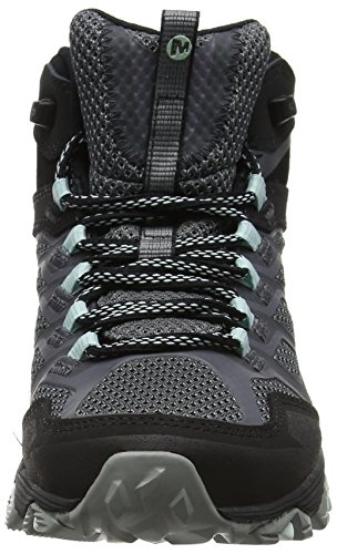 Boots High TEX Rise FST Moab Granite Merrell Hiking Gore Women's Mid Black UYXUnzq