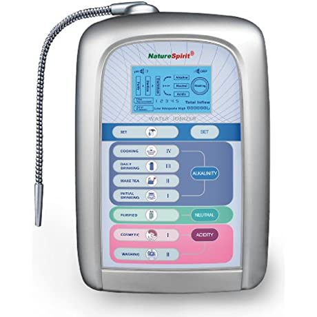 NatureSpirit Advanced Alkaline Water Ionizer With Oxidation Reduction Potential 12 Pound