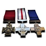 Military Medals 3x Set Victoria Cross , Conspicuous Gallantry Cross & George Cross Medals Repro