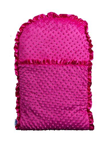 zCush Berry Beginning Baby Nap Mat, Hot Pink Chenille (Nursing Chenille Pillow Newborn)