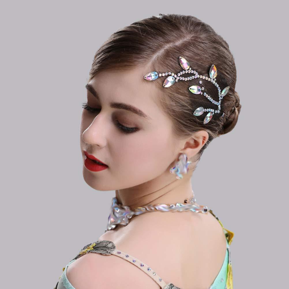 Concours de Danse Latine Boucles doreilles Exquises//Chapeaux /él/égants//Colliers Chic pour Valse Tango Performance MoLi Accessoires de Danse de Salon Professionnels en Cristal