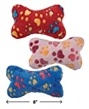 Soft Plush Bone Shaped Squeak Dog Toys 8″ Ruff N' Tumble Full Sets Available(FULL SET – ALL 3 TOYS!)