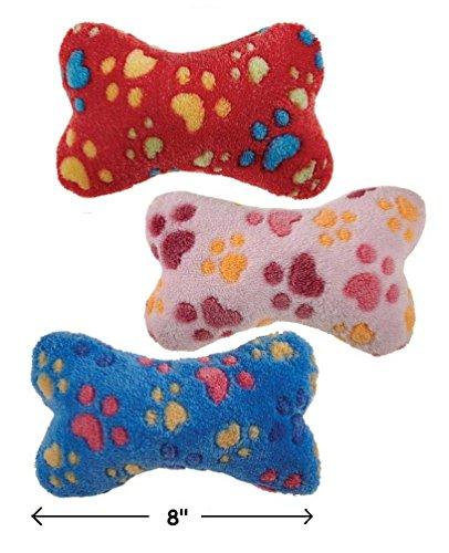 Soft Plush Bone Shaped Squeak Dog Toys 8″ Ruff N' Tumble Full Sets Available(FULL SET – ALL 3 TOYS!)