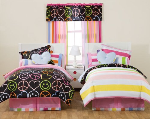 Little Miss Matched Peace Love Queen Bedding