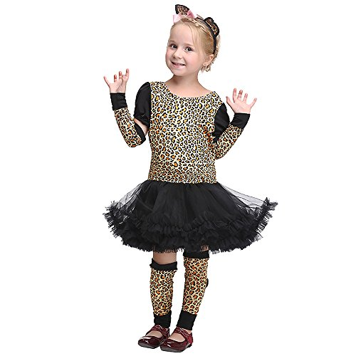 Hoter Girl Leopard Jungle Cheetah Animal Cosplay Fancy Dress Halloween Costume Set S-XL