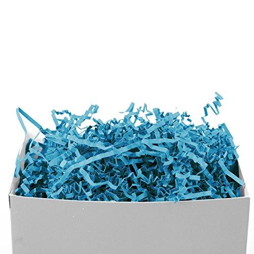 GIFT EXPRESSIONS Ocean Blue Crinkle Paper Shred for gift box filler or kraft, Crinkle Cut Paper Shred Filler for Gift Wrapping & Basket Filling, Perfect for Stuffing Gift Bags (Ocean Blue) ()