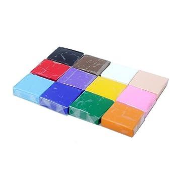 Arcilla polimérica, SEARCHALL 12 colores Arcilla de modelar [Ultra ...