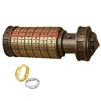 MUCHENGGIFTS Da Vinci Code Mini Cryptex For Valentines Day Creative