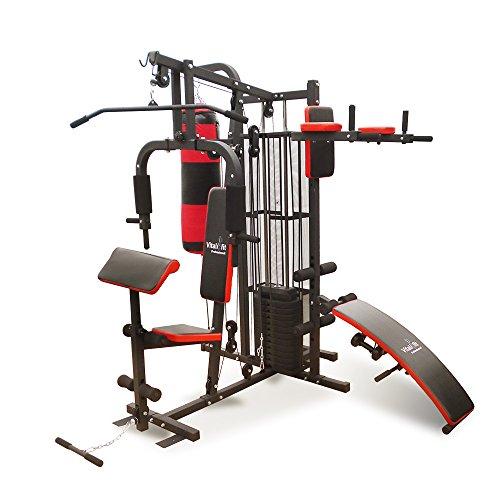 Fitness Kraftstation Trainingsbank inklusive Boxsack + 2 Hanteln + 65kg Gewichte