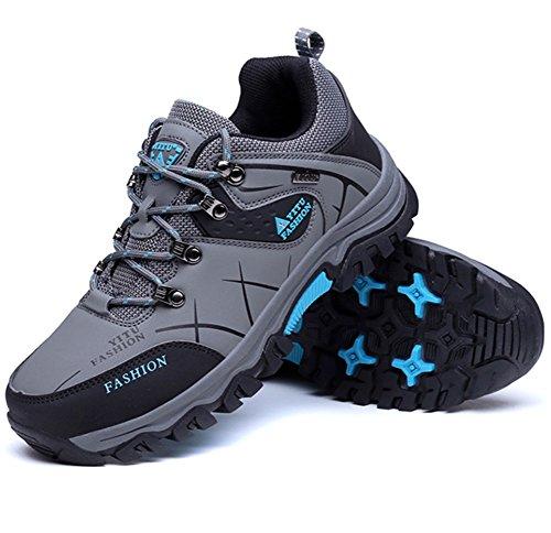 Herren Grau01 Showlovein Herren Wasserdicht Wanderschuhe Stiefel Trekking Sneaker Outdoor Gleitsicher 7dqFHwd