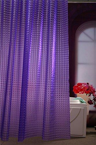 Best Adwaita 3D Crystal Pattern Mildew Free EVA Bathroom Shower Curtain Liner Eco Friendly